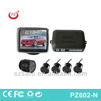 hot selling car reverse parking sensor system with buzzer 3.5inch stand monitor in digital lcd display infrared camera