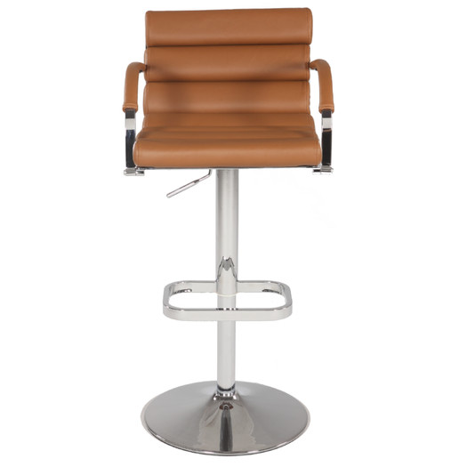 Pneumatic Gas Adjustable Height Swivel Bar Stool with armrest