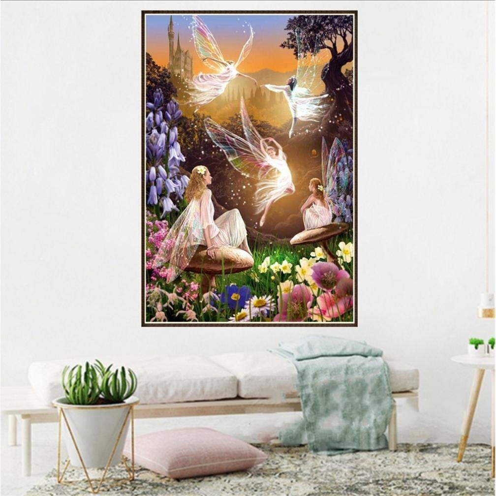 Pandaie To America!!! Fairy 5D Diamond Painting Full Drill Kits for Adults Embroidery Cross Stitch(all 5% off, three 10% off)