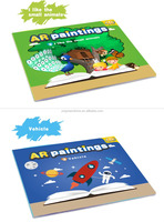 2016 Magic Fancy 3D AR Painting Educational Book [English] - 3D AR Animal Educational Game - Interactive Learning System Early L