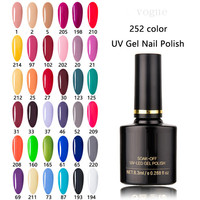 Hot Sale Natural Custom Logo Mini Gel Nail Polish 8.3ml 252 Color Soak Off Nail Art Vernis Semi permanent UV