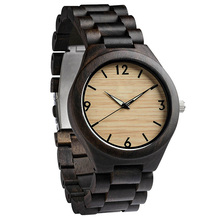 wholesale design your own style mens wooden watch custom logo