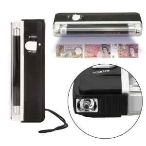 2 in 1 Handheld UV Led Light Torch Lamp Useful Banknotes Detector Currency Money Detector