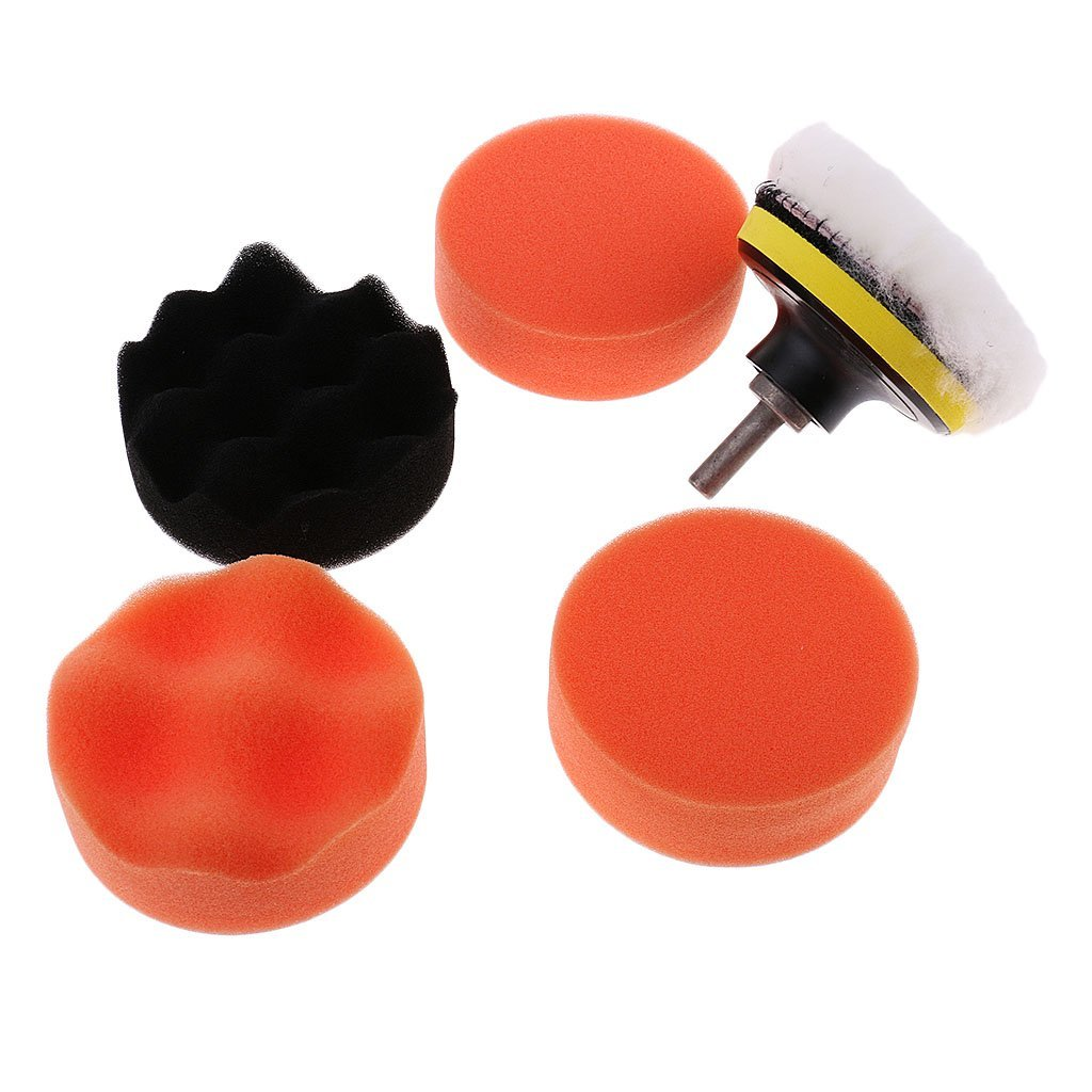 MagiDeal 3'' Car Paint Care Polisher Buffing Polishing Foam Pad Drill Adapter