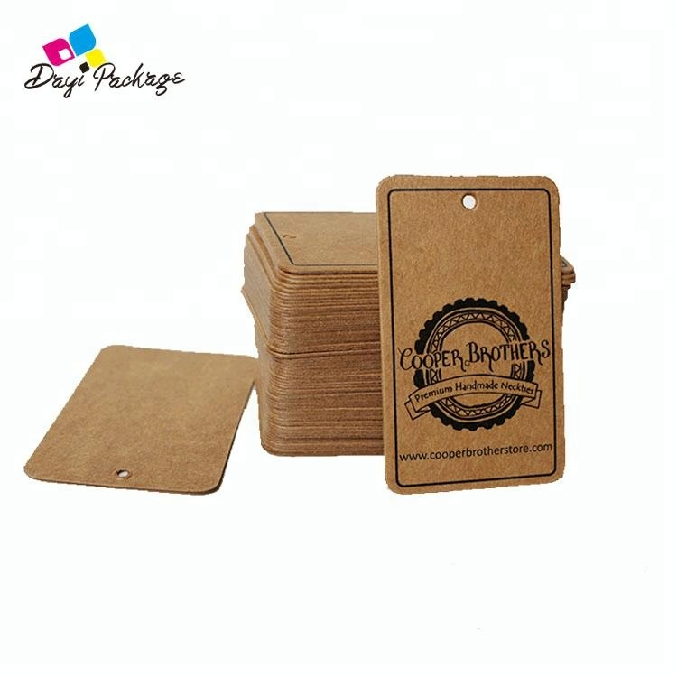 High Quality Brown Kraft Paper Hang Tag With UV