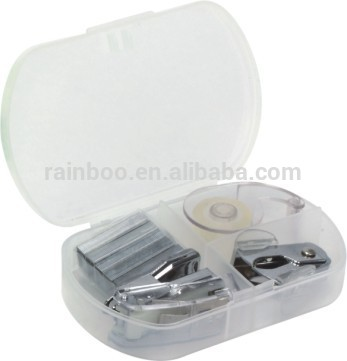 Hot selling promotional gift plastic mini nativity stapler office stationery set with adhesive tape