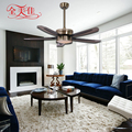 56 Inch Brushed Nickel Ceiling Fan with Led Light and Remote Control