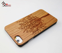 Engraving real wood fiber phone case