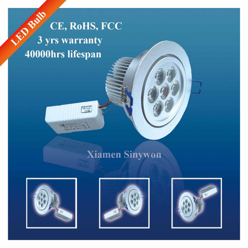 Epistar Cree High Power Reccessed IP65 7w Led Downlight