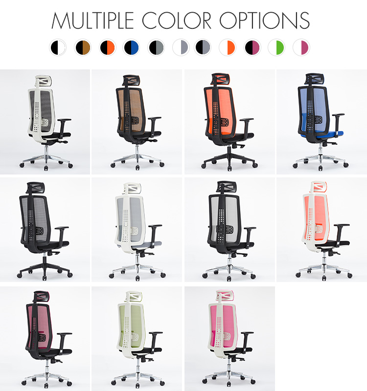 TUV Standard 3D Armrest Design Multi Function Luxury High Back Ergonomic Mesh Office Chair