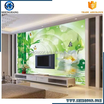 Gli interni delle case di bamb murale carta da parati 3d for Carta da parati in velluto