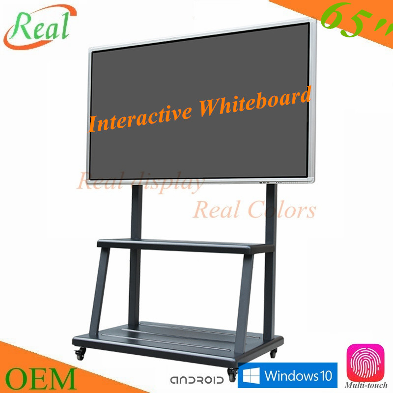 "65"" interactive touch screen smart board for education"
