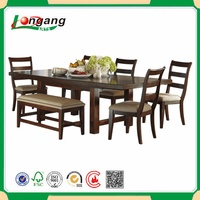 SD-2835 Dining Set Furniture, Solid Wood Dining Table and Chairs