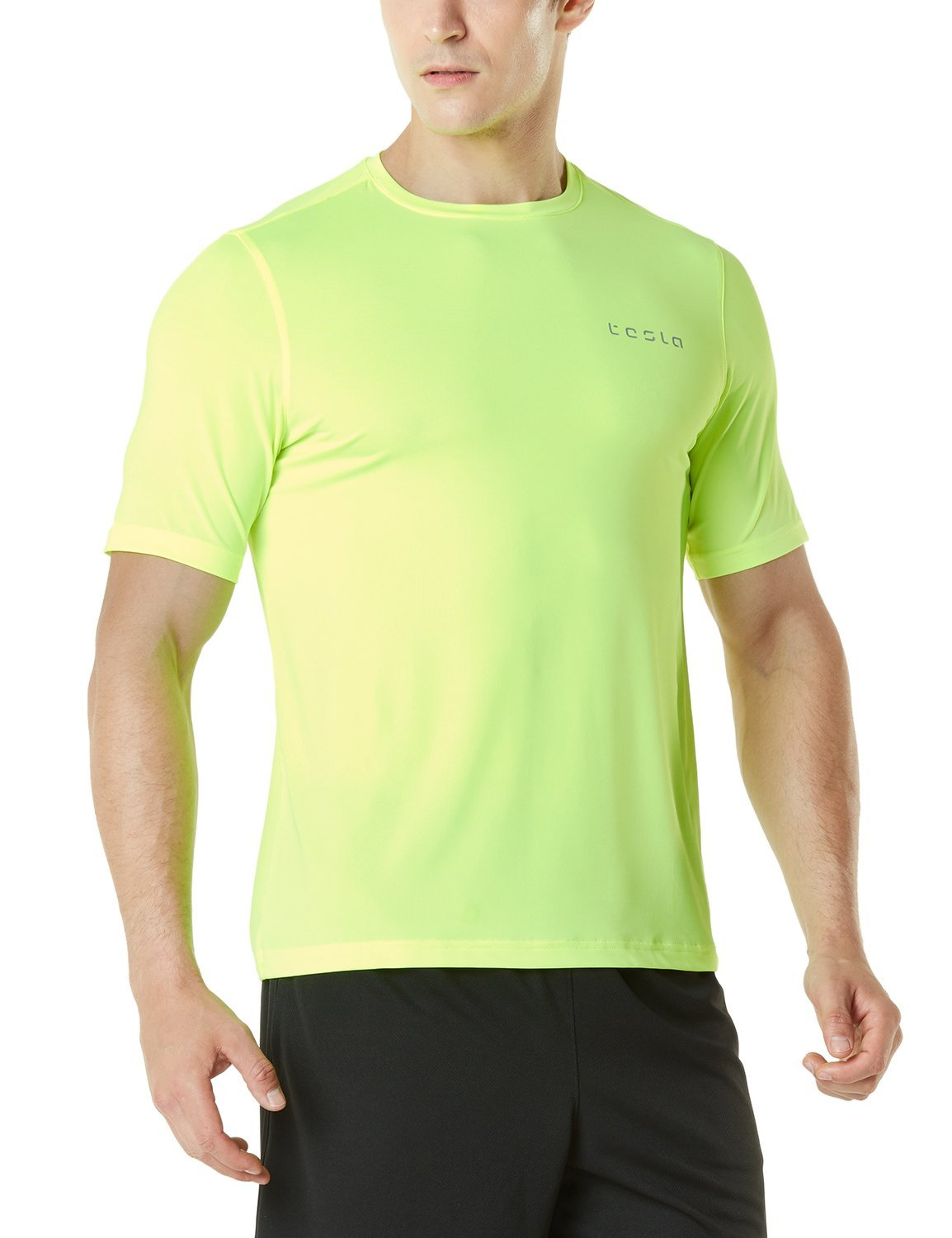 Tesla Men's HyperDri Short Sleeve T-Shirt Athletic Cool Running Top MTS08/MTS06/MTS04/MTS03/MTS07