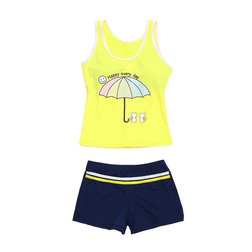 a315a305a4 Get Quotations · Children Kids Baby Girls Swimsuits Cartoon Letter Print  Sleeveless Tops+ Shorts Bathing Suits Beachwear