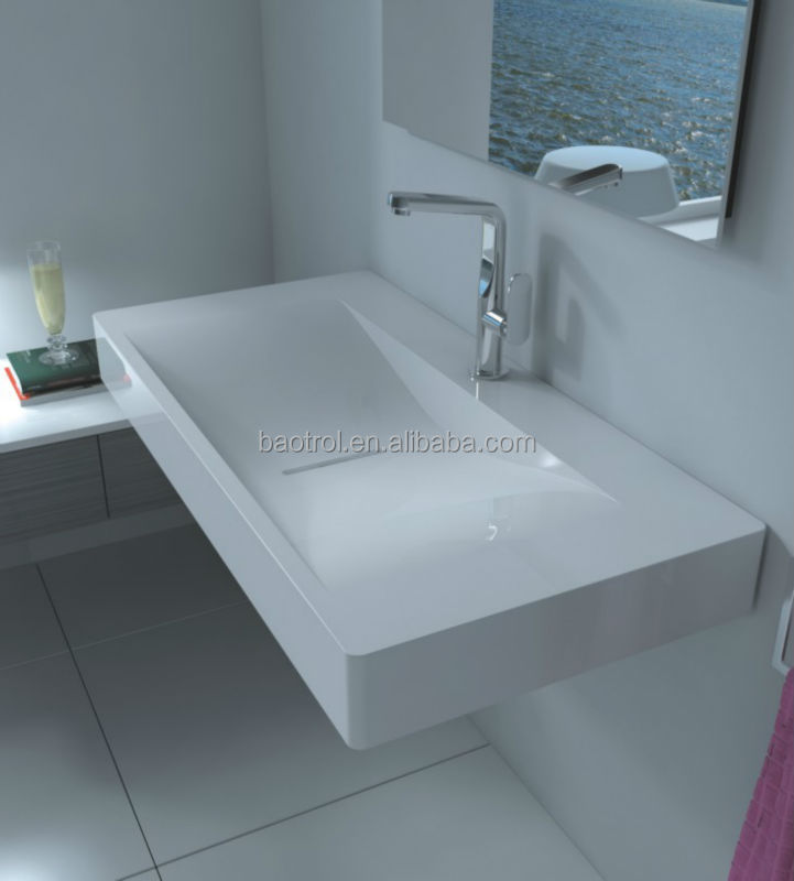 solid surface trough sinks/solid surface bathroom wash basin