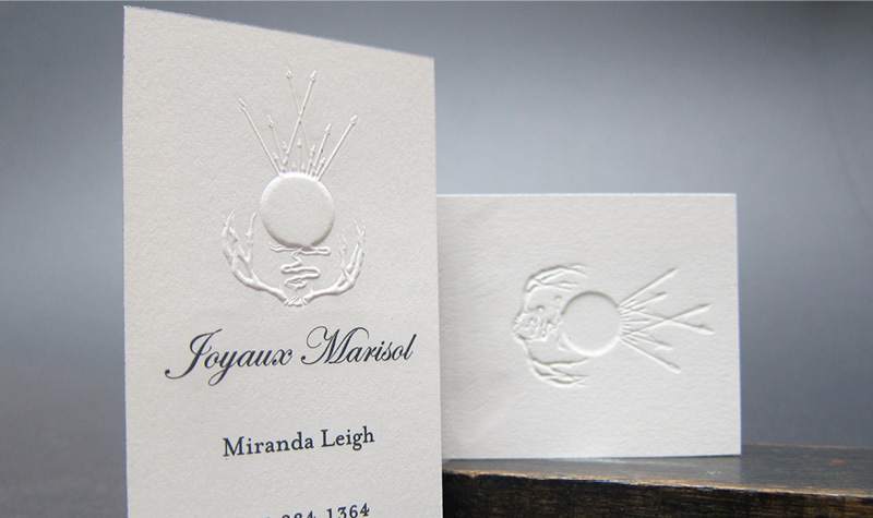 Emboss printing cotton paper business card