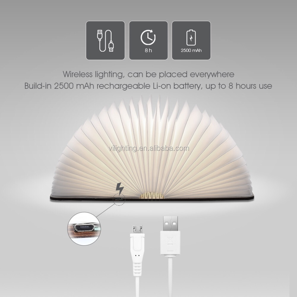 Wooden Cover Reading Light Lumio Book Lamp Folding Led Book Buy