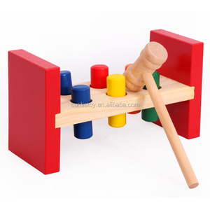 Most Popular DIY Wooden Hammer Knock Pegs Game Cheap Baby Toys percussion play instruments new educational toy for children