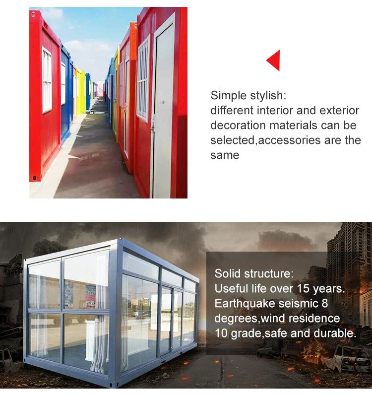 Hohe qualität container haus für mobile hotel büro