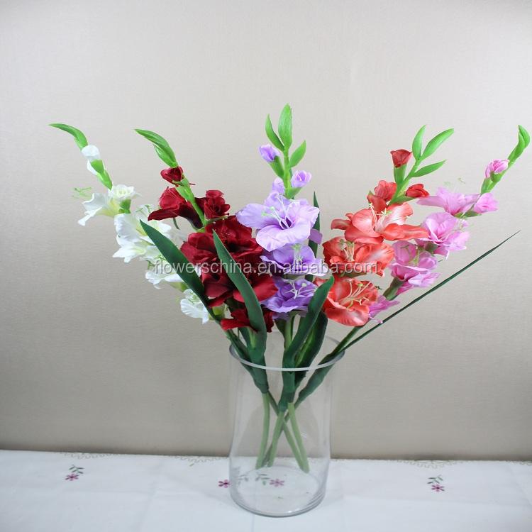 Artificial Gladiolus Flower Large Silk Flowers Buy Silk Flowers