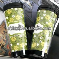 High quality double wall inserted plastic car coffee cup holder, promotional mug for gift item