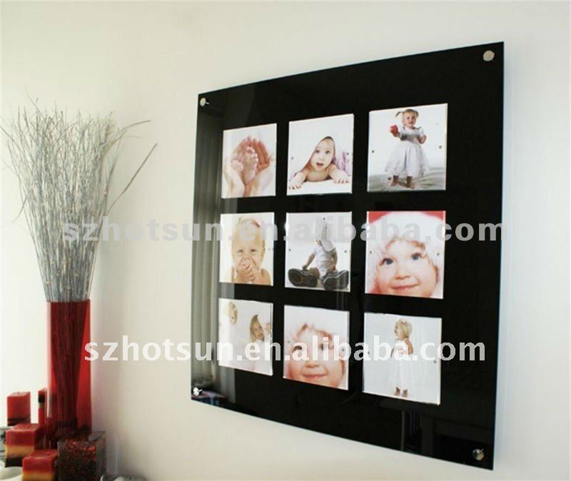 Black Acrylic Wall Mounted Digital Picture Frame Buy Wall Mounted