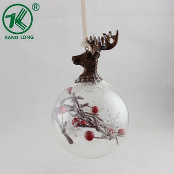 Clear Christmas Ornaments.Cheap Christmas Ball Ornament Hanging Clear Glass Ball With Plastic Red Bean Branch And Antler Buy Clear Glass Ball Cheap Christmas Ornaments