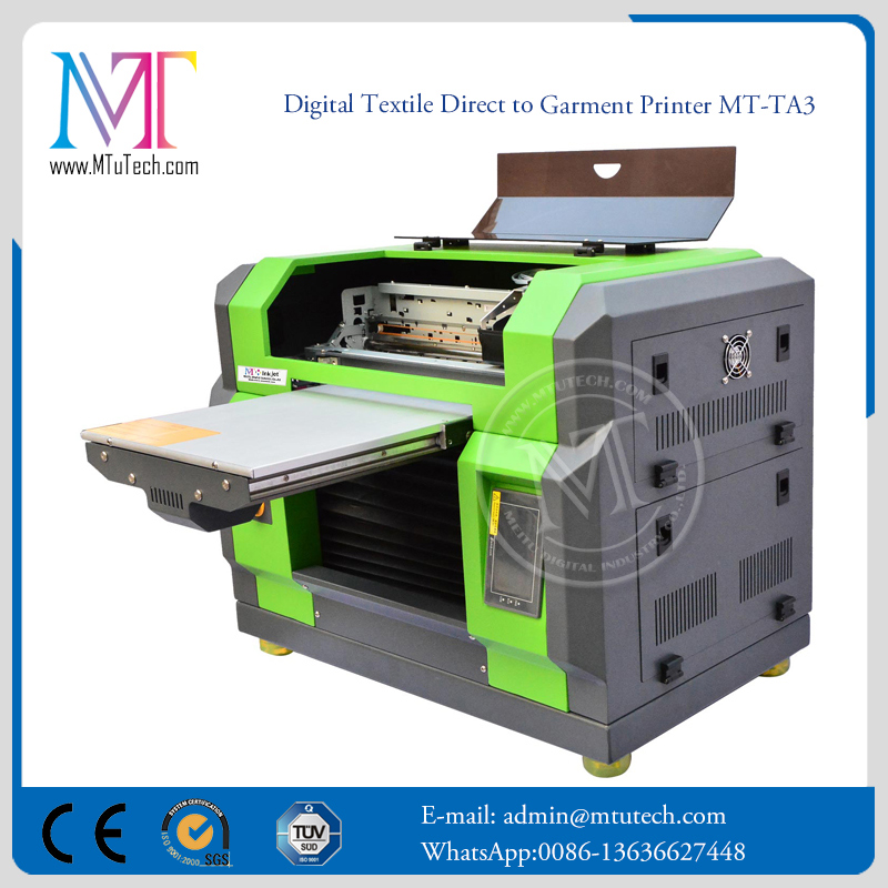 High Speed 5 Color CMYKW DX5 Head dtg printers for sale