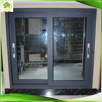 Double Glazed Grey Aluminum Sliding Window Price