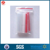 Transparent refrigerator frozen food package zip lock resealable poly bag