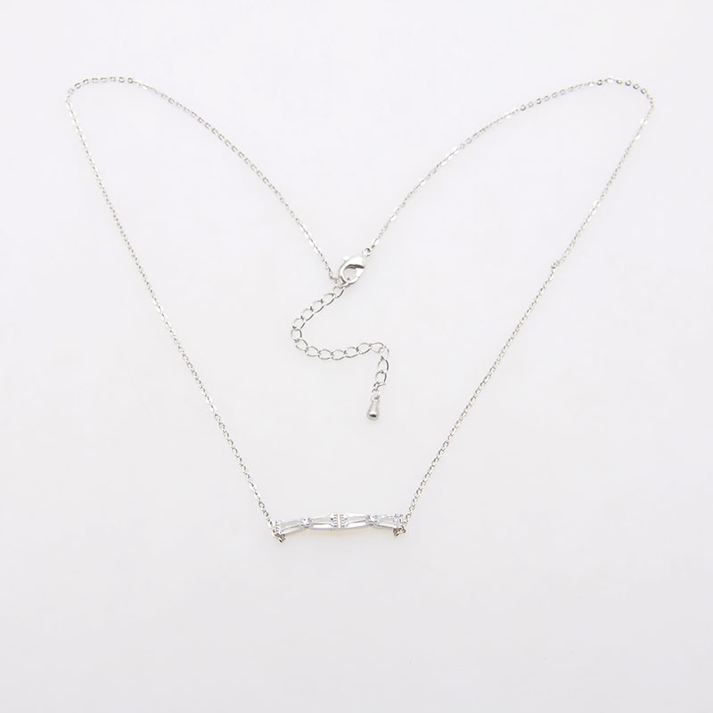 Wholesale fashion design Silver Chain Bar Pendant Necklace