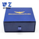 Custom Logo Printed Paper Drawer Box Blue color handmade box