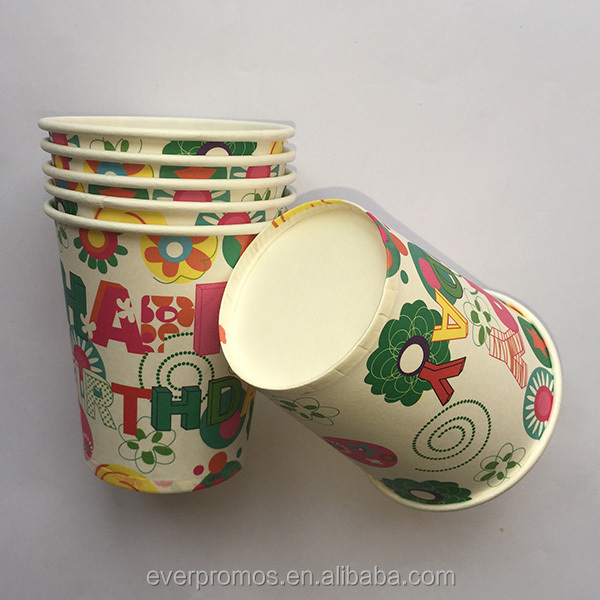 New Product Free Sample Paper Material/Birthday Theme Party Cups