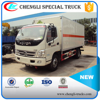 FOTON 100hp 4*2 6wheels 7000kg Van Type Transportation Trucks