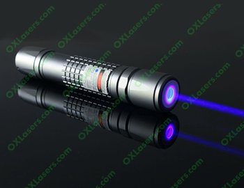 OXLasers OX-B40 445nm focusable burning 1000mw 1Watt blue laser pointer torch with 5 star cap light cigars