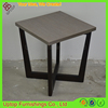 (SP-GT427) Cross base square wood end table tea table