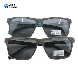 Wholesale Fashion Design Wooden Color Acetate Square Sunglasses