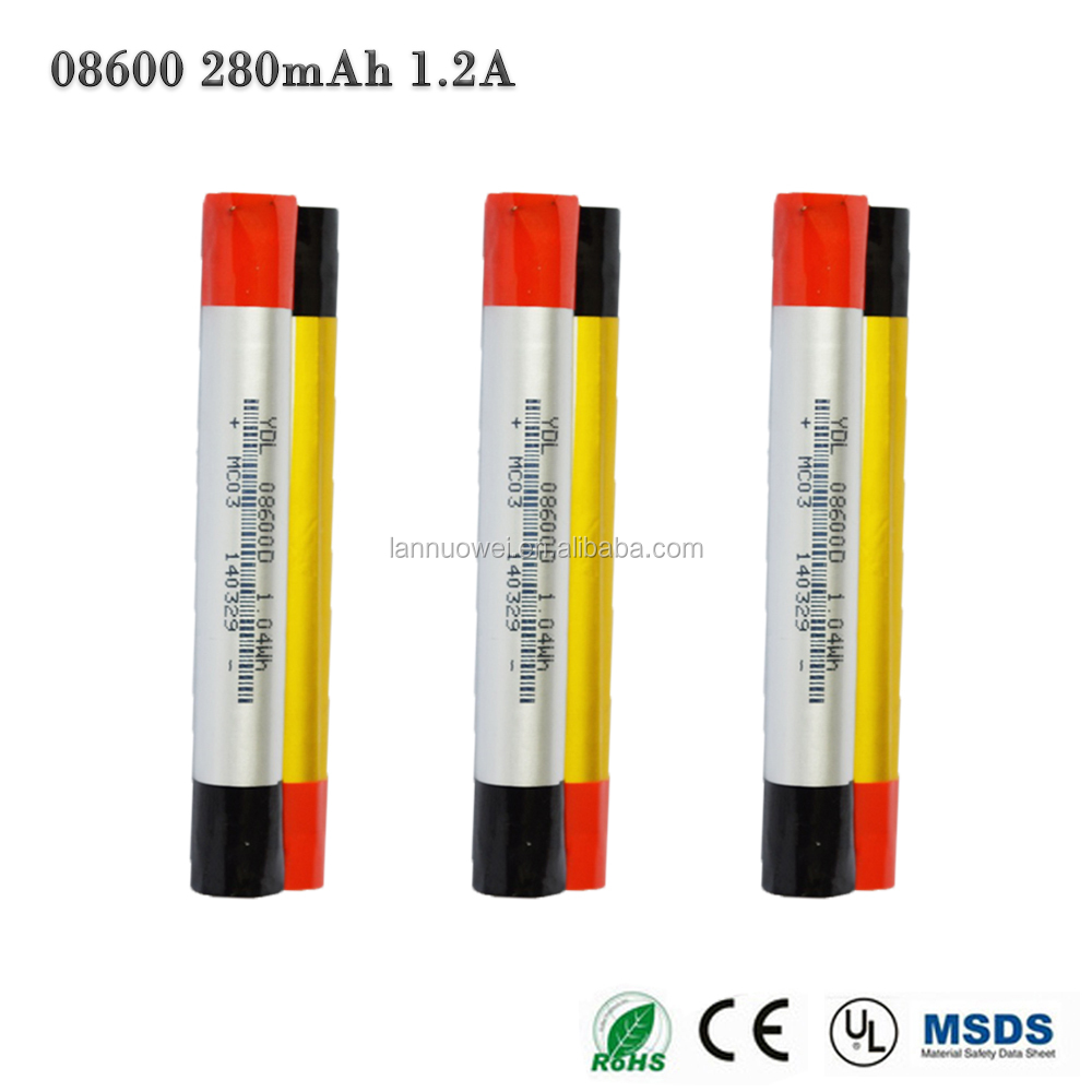8600 li ion battery 280mAh 3.7V rechargeable battery for electric bike