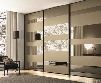 Fashion Walk In Closet Mirror Designs Firm Sliding Door