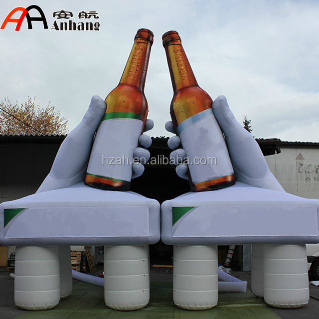 Giant Inflatable Hand Holding Beer Bottle for Cheers