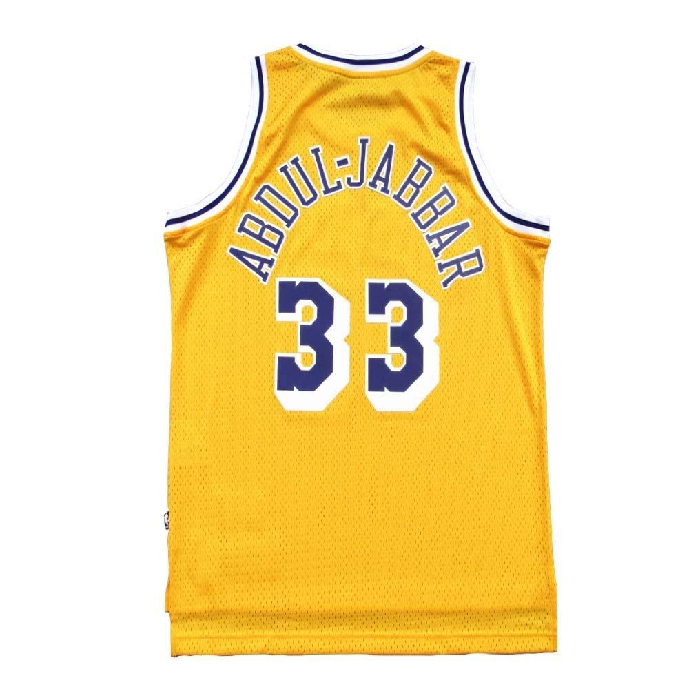 fea00d78918 Gumfor Mens Abdul-Jabbar Jersey Adult  33 Kareem Swingman Los Angeles  Basketball Yellow