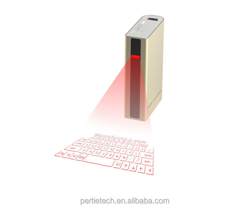 bluetooth wireless portable virtual laser projection keyboard with power bank 5200mAh and bluetooth speaker