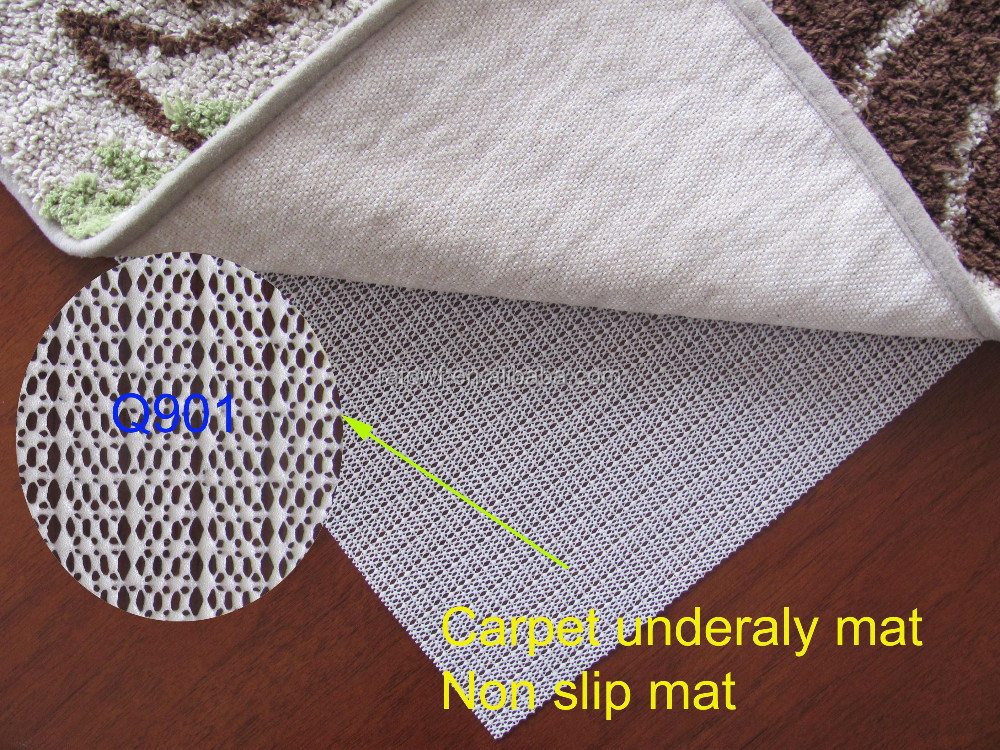 Waterproof PVC Foam Non Slip Area Rug Pad For Carpet Style