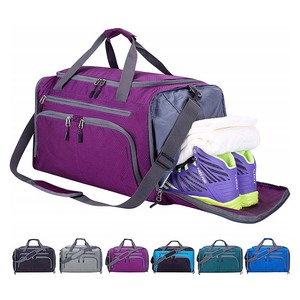 custom durable light weight travel duffel sports Gym weekender duffle bag