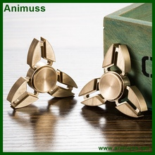 Anti stress anxiety boredom relieve stock supplying Torqbar copper brass hand finger fidget spinner toy