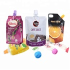 custom print foil packaging stand up pouch with cap reusable juice spout pouch
