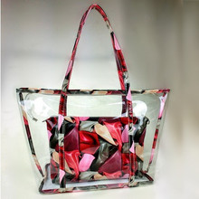 NS2199 Wholesale Hot Sale Women Casual 2PCS Plastic Bags Ladies Beach Handbags