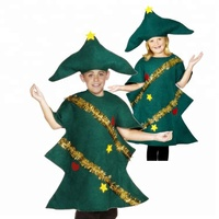 Hot Wholesale Christmas Carnival Party Fashion Dance Costume Cosplay Children Fancy Dress Christmas Tree Costume Suits