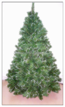 hot sell green custom artificial christmas tree with balsam pine needle for evergreen decoration - Outdoor Artificial Christmas Tree
